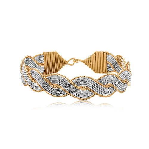 Aurora Bracelet - 14K Gold Artist Wire & Silver