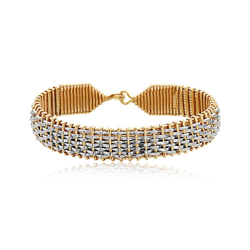 Buckingham Bracelet - 14K Gold Artist Wire and Sterling Silver