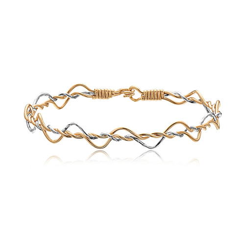 Dance With Me - 14K Gold Artist Wire and Sterling Silver