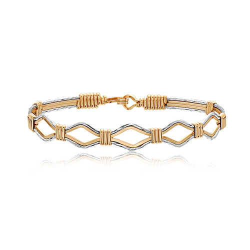 Devotion Bracelet - 14K Gold Artist Wire and Sterling Silver
