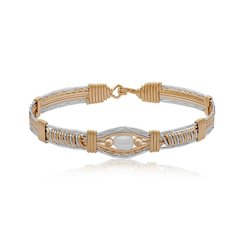 Dream Date Bracelet - 14K Gold Artist Wire and Sterling Silver