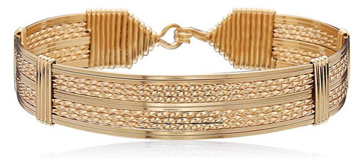 Empire Bracelet - All 14K Gold Artist Wire