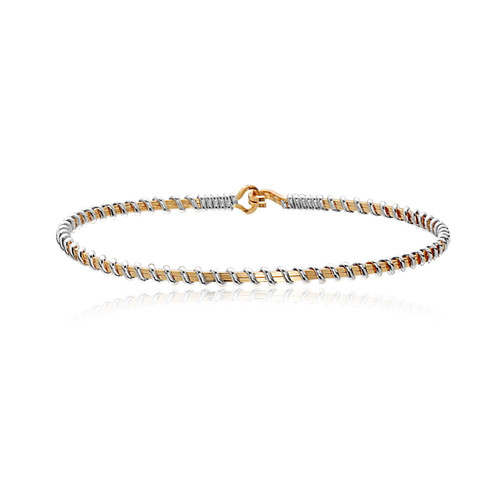 Forever Fellowship Bracelet - 14K Gold Artist Wire with Sterling Silver Wraps