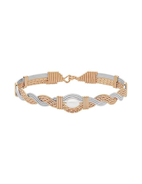 God's Amazing Grace Bracelet - 14K Gold Artist Wire and Sterling Silver