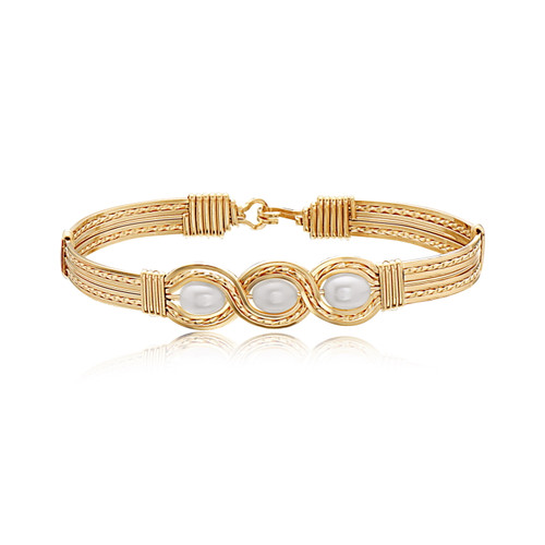 Waverly Bracelet (Wide) - 14K Gold Artist Wire