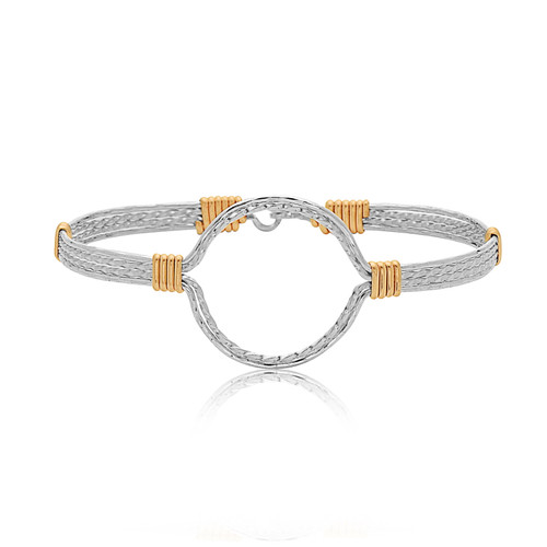 Harmony Bracelet - Sterling Silver with 14K Gold Artist Wire Wraps