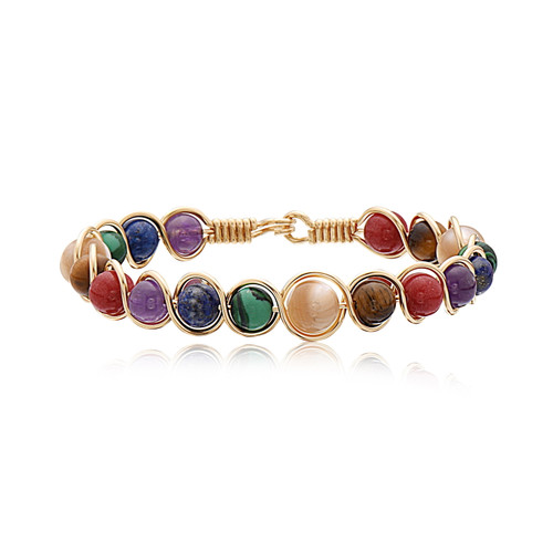Harvest Bracelet - All 14K Gold Artist Wire