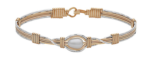 Hold Me Bracelet - 14K Gold Artist Wire and Sterling Silver
