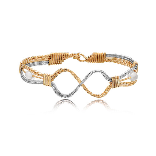 Infinite Angel Bracelet - 14K Gold Artist Wire and Sterling Silver
