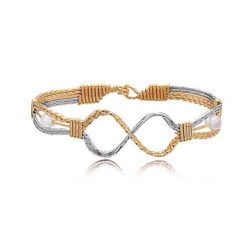 Infinite Angel Bracelet - 14K Gold Artist Wire and Sterling Silver
