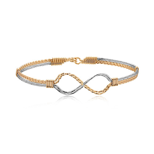 Infinity Bracelet - 14K Gold Artist Wire and Sterling Silver