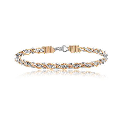 Lean On Me Bracelet - 14K Gold Artist Wire with Sterling Silver