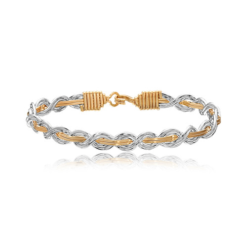 Let It Shine Bracelet - 14K Gold Artist Wire and Sterling Silver