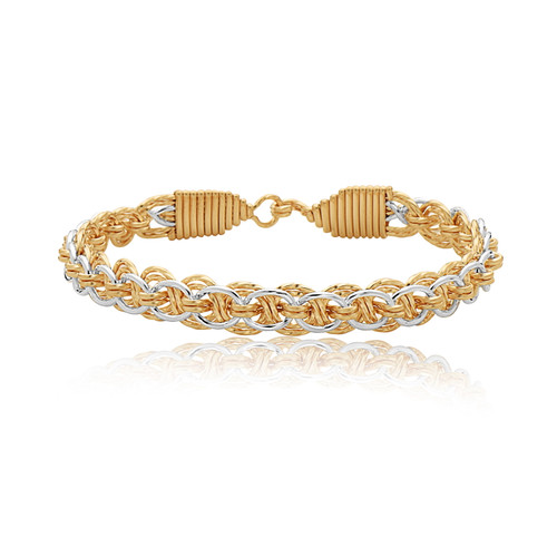 Lift Me Up Bracelet - 14K Gold Artist Wire and Sterling Silver