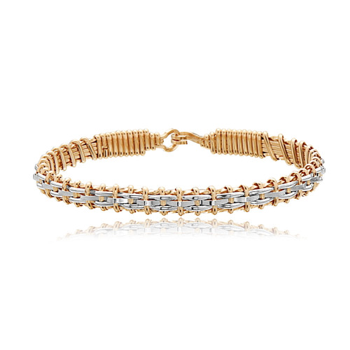 Little Princess Bracelet - 14K Gold Artist Wire and Sterling Silver