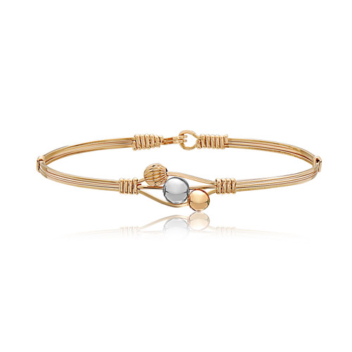 Love Always Bracelet - 14K Gold Artist Wire with Sterling Silver Center Bead