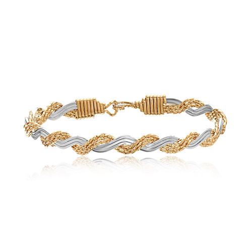Love Knot Bracelet - 14K Gold Artist Wire and Sterling Silver