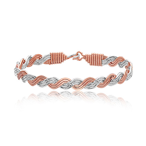 Love Knot Bracelet (Rose Gold) - 14K Rose Gold Artist Wire and Sterling Silver