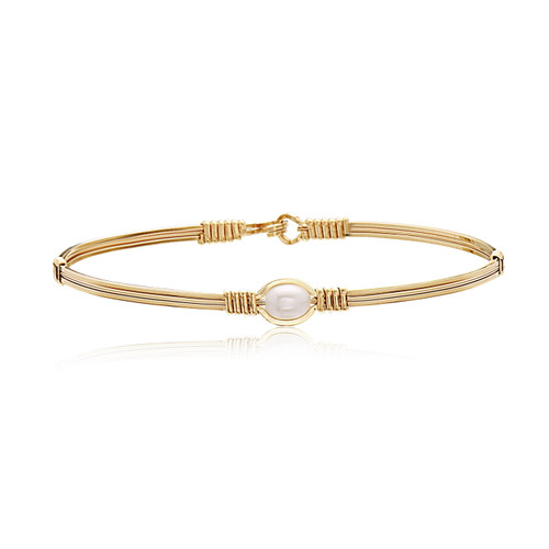 Pearl of My Heart Bracelet - All 14K Gold Artist Wire