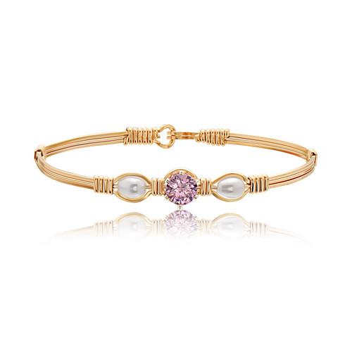 Puppy Love Bracelet - 14K Gold Artist Wire (October Stone)