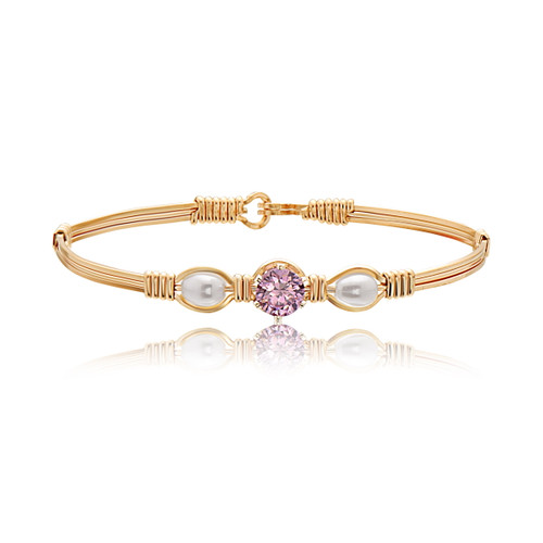 Puppy Love Bracelet - 14K Gold Artist Wire (October Stone)