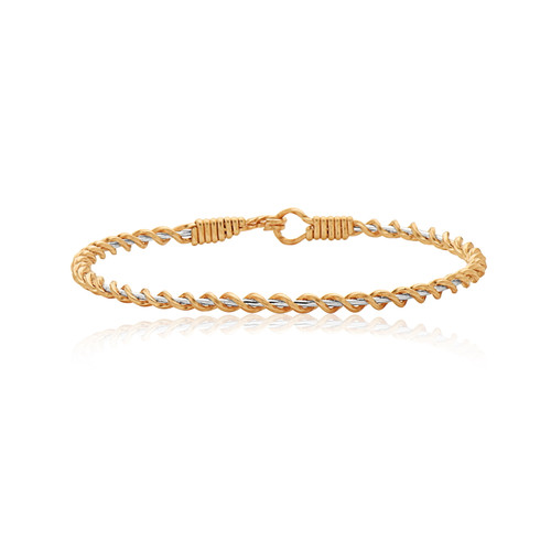 Serenity Bracelet - 14K Gold Artist Wire and Sterling Silver