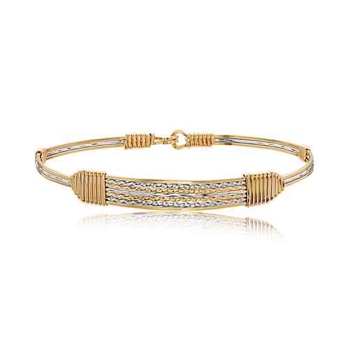 Sincerely Yours Bracelet - 14K Gold Artist Wire and Silver