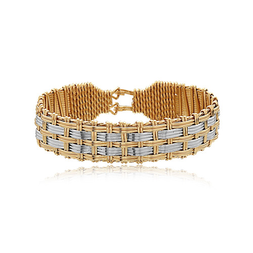 Squire Bracelet - 14K Gold Artist Wire and Silver