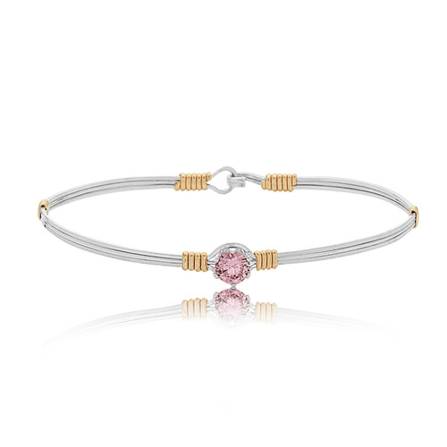 Star of Hope Bracelet - Silver with 14K Gold Artist Wire Wraps (October Stone)