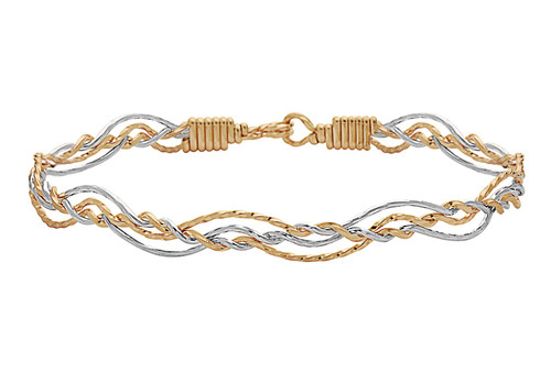 Sunrise Bracelet - 14K Gold Artist Wire and Silver