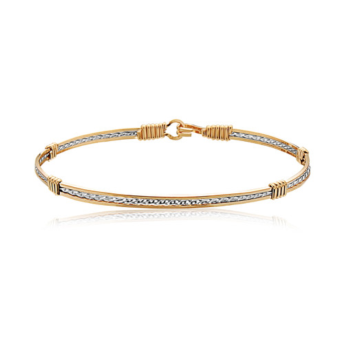 Sweetheart Bracelet- 14K Gold Artist Wire and Silver