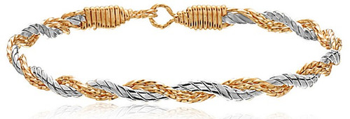 Tied Together Bracelet - 14K Gold Artist Wire and Silver