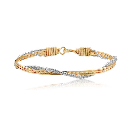 Tranquility Bracelet - 14K Gold Artist Wire and Silver