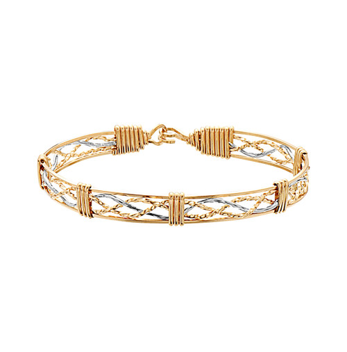Tribute Bracelet - Outer 14K Gold Artist Wire with 14K Gold Artist Wire & Silver Center