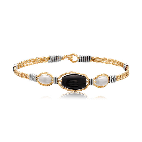 Trinity Bracelet - 14K Gold Artist Wire with Silver Wraps
