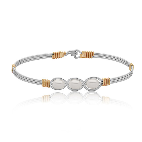Waverly Bracelet - Sterling Silver with 14K Gold Artist Wire Wraps