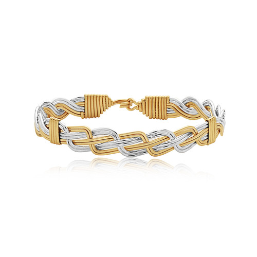 Woven Together Bracelet - 14K Gold Artist Wire and Silver