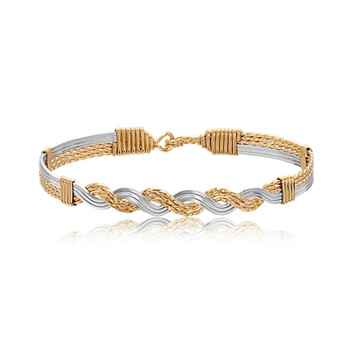Young Love Bracelet - 14K Gold Artist Wire and Sterling Silver