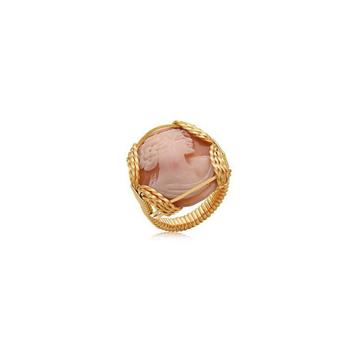 Cameo Ring - 14K Gold Artist Wire