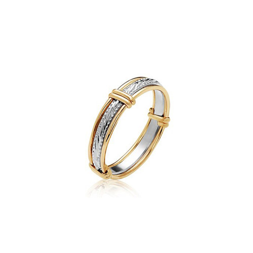 Clara Ring - Sterling silver with 14K Gold Artist Wire Wraps