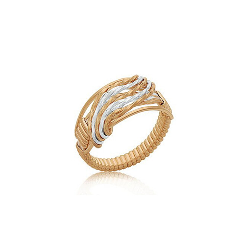 Waterfall Ring - 14K Gold Artist Wire and Sterling Silver