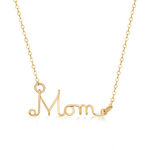 Name Necklace - 14K Gold Artist Wire