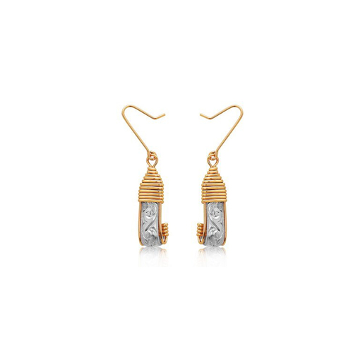Angelina Earrings - 14K Gold Artist Wire & Silver