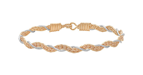 A Mother's Love Bracelet - 14K Gold Artist Wire and Sterling Silver