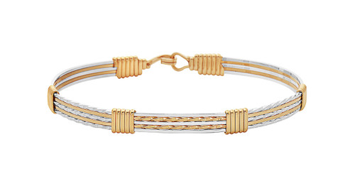 Follow your Dreams Bracelet - 14K Gold Artist Wire and Sterling Silver