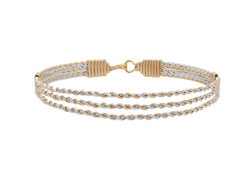 Joy Bracelet - 14K Gold Artist Wire with Sterling Silver