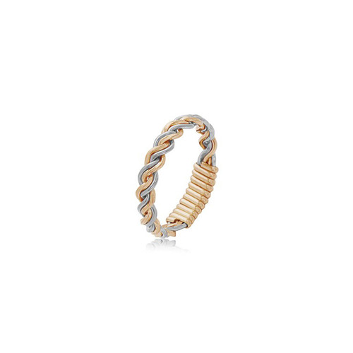 Love Knot Ring - 14K Gold Artist Wire and Sterling Silver