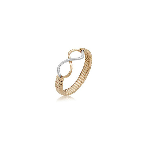 Infinity Ring - 14K Gold Artist Wire and Sterling Silver