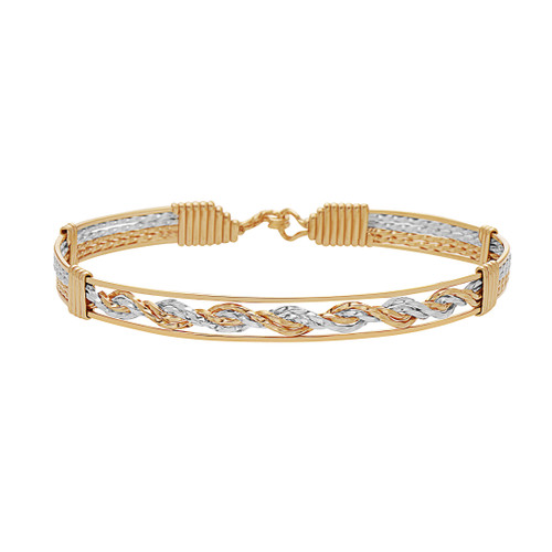 One More Chance Bracelet - 14K Gold Artist Wire and Sterling Silver