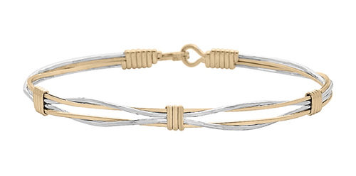 Out of the Darkness Bracelet - 14K Gold Artist Wire and Sterling Silver